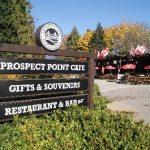 Prospect Point entrance sign at Stanley Park