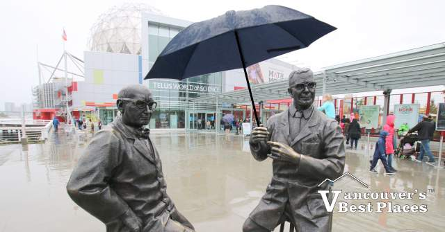 Science World Statues with Umbrella