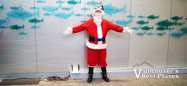 Scuba Claus at Christmas at Aquarium