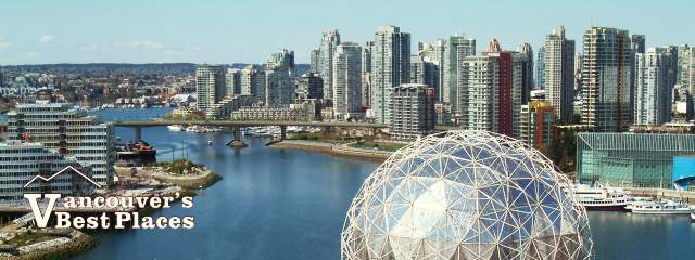 Vancouver Skyline over Science World