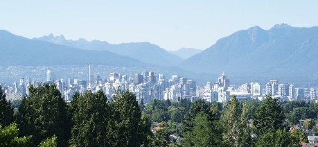 Vancouver View from Queen Elizabeth Park