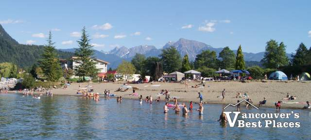 Beach at Harrison Hot Springs