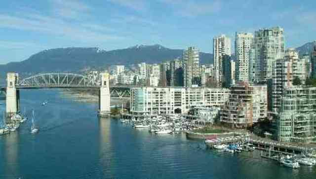 False Creek Burrard Bridge