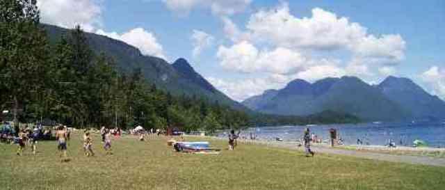 Alouette Lake Beach Lawns