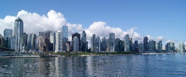 View of Coal Harbour from a boat in Burrard Inlet