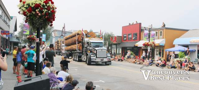 Logging Truck in Squamish Days Parade
