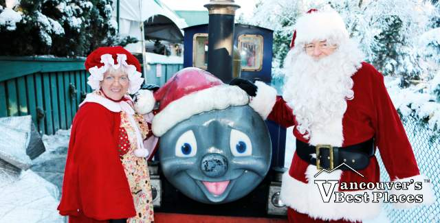 Santa, Mrs Claus and the Bear Creek Train