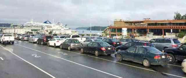 Swartz Bay Ferry Lineup