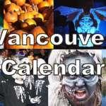 Vancouver October Calendar