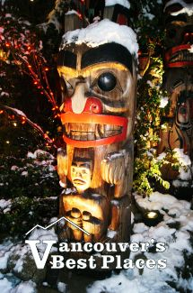 Winter Totem at Capilano Bridge