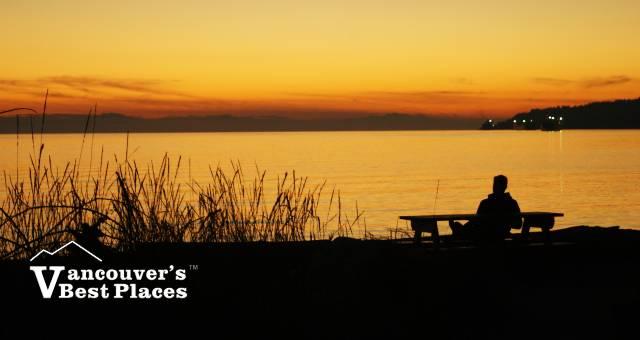 Sunset at Dundarave Beach