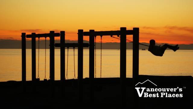 Swinging at Dundarave Sunset