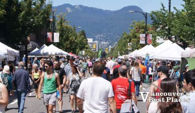 Car Free Day Crowds on Commercial Drive