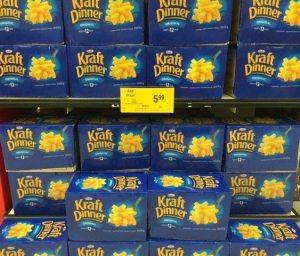 Cases of Kraft Macaroni
