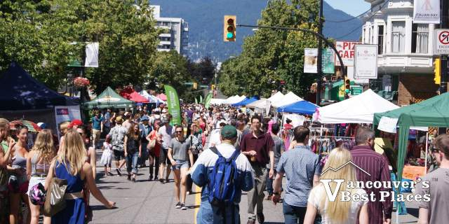 Commercial Drive on Car Free Day