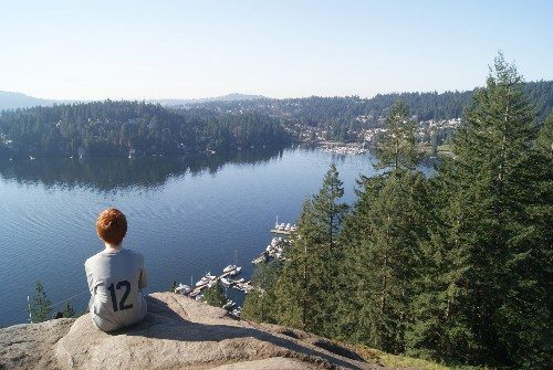 View of Deep Cove from Quarry Rock