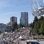 Crowds in BC Place Parking Lot