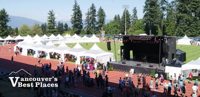 Main Stage and Festival Stalls