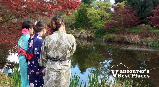 VanDusen Girls in Japanese Clothing