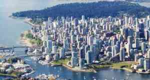 Downtown Vancouver Core Aerial