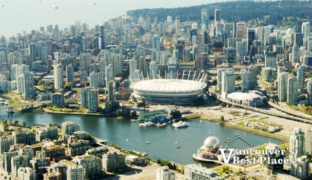 Vancouver and English Bay Aerial View