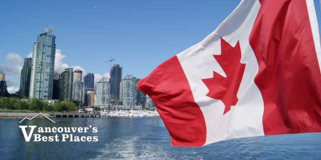 Waterfront with Canada Flag