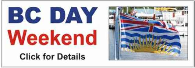 BC Day Weekend Banner