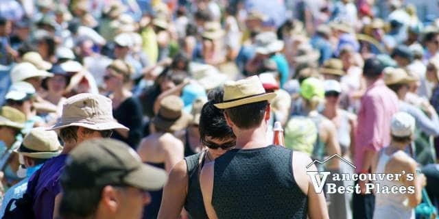 Vancouver Folk Fest Crowds
