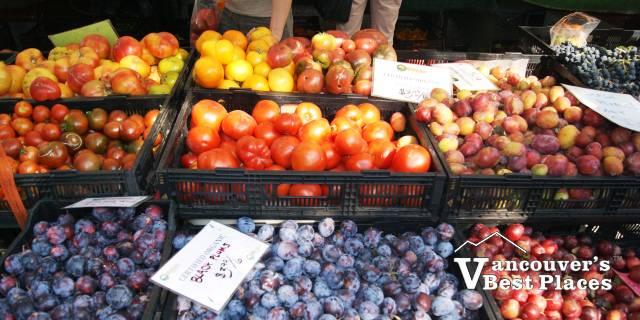 Farmers Market Plum Produce