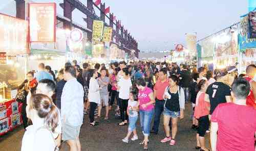 International Summer Night Market Crowds