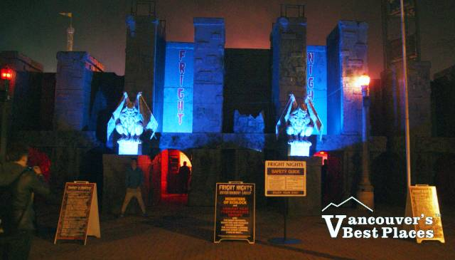 Entrance to PNE Fright Nights