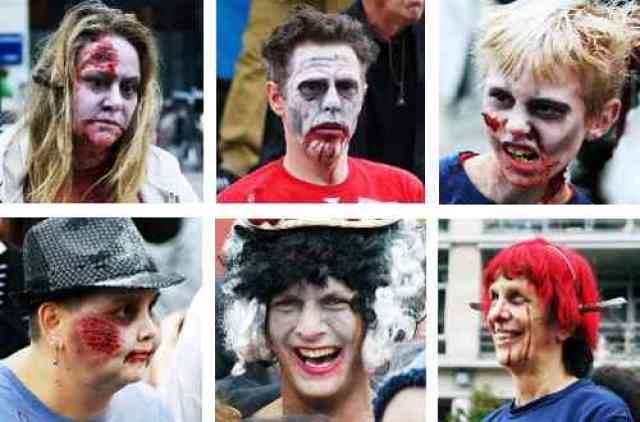 Thriller Vancouver Zombie Faces