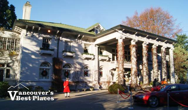Hycroft Manor at Christmas