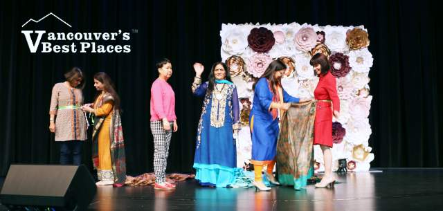 Sari Tying Demo at Diwali Fest