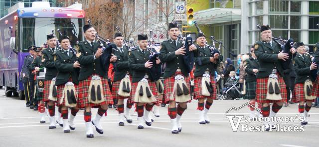 Marching Band in Kilts