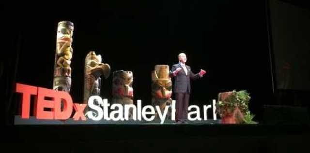 TEDx Stanley Park MC on Stage