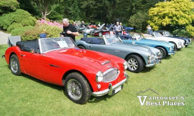 British Cars at VanDusen Gardens