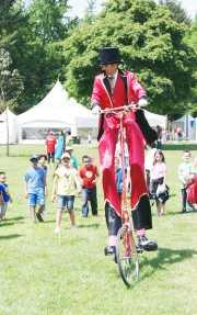 Unicyclist at Surrey Children's Festival