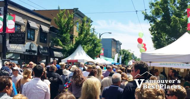 Italian Day Crowd on Commercial