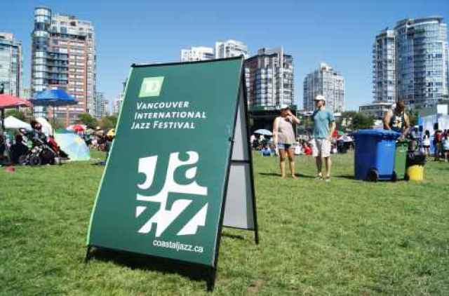 TD Jazz Festival Sign in Yaletown