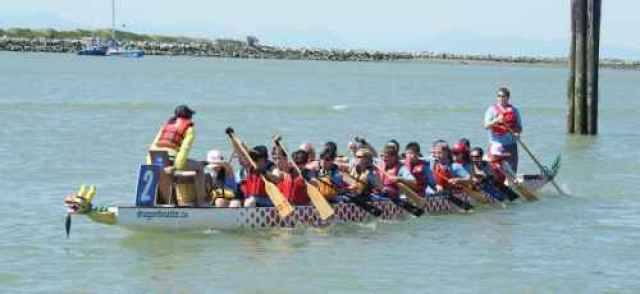 Dragon Boat at Steveston Festival