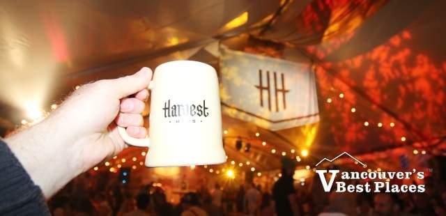 Beer Stein in Harvest Haus Festzelte