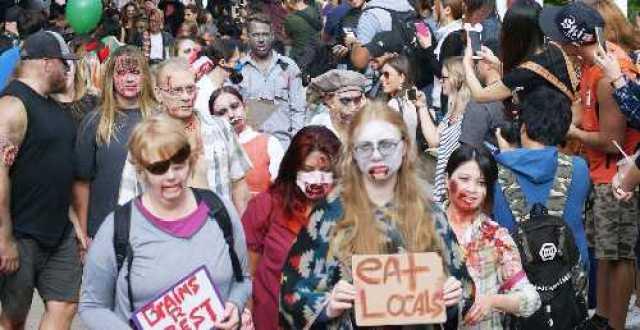 Zombie Walk Crowds