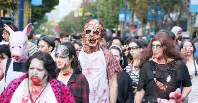 Zombies on Denman Street