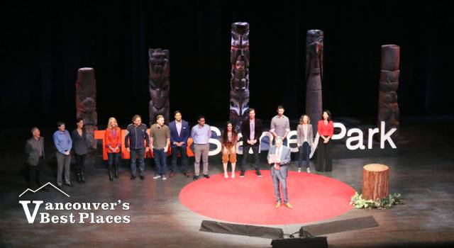 Speakers on Stage at TEDxStanleyPark