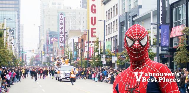 Spiderman on Granville Street