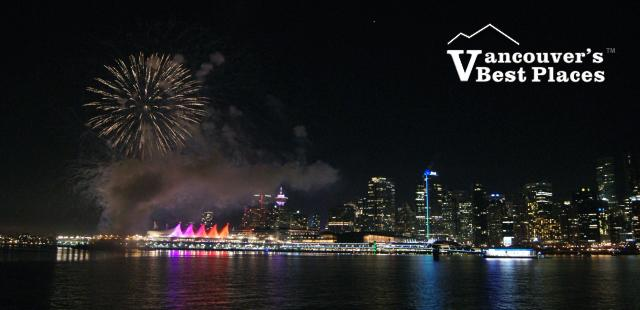 Fireworks from Stanley Park