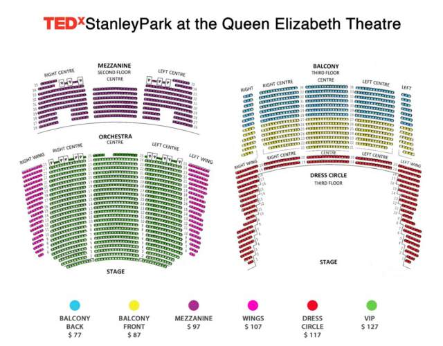 Queen Elizabeth Theatre Seating Map
