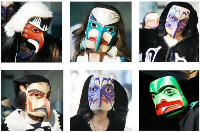 MOA First Nations Dancer Masks
