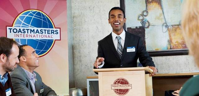 Speaker at Toastmasters
